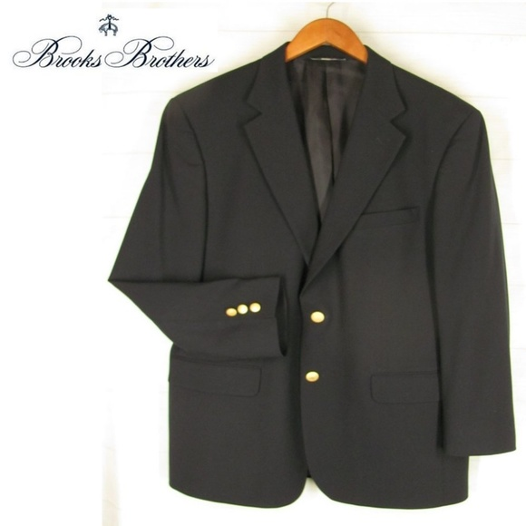 eaf7c93f Brooks Brothers Suits & Blazers | Blazer Jacket 41 R Navy Blue Wool ...